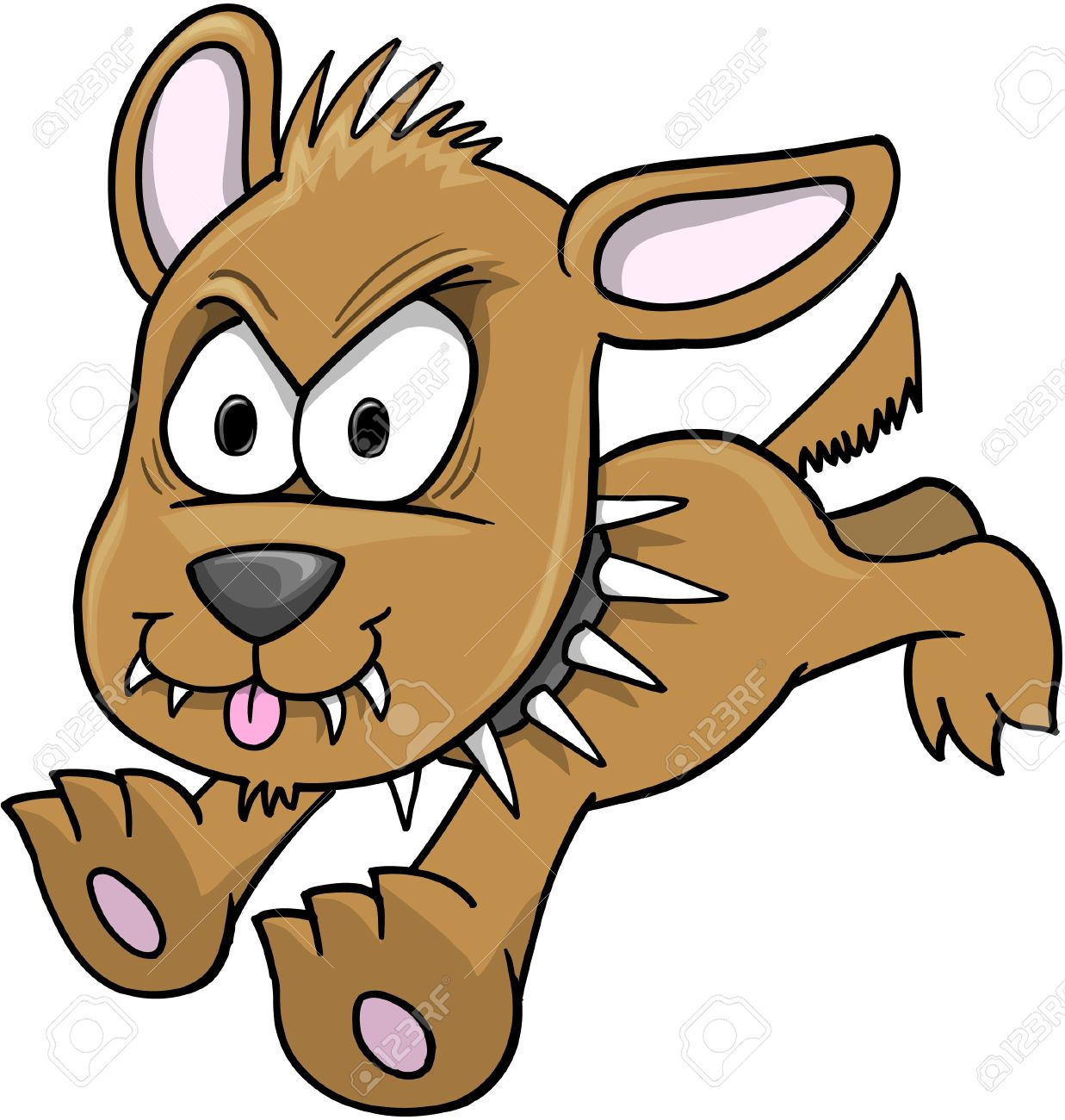 Mean Dog Cartoon Clipart.