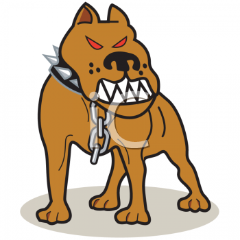 Angry Dog Clipart.