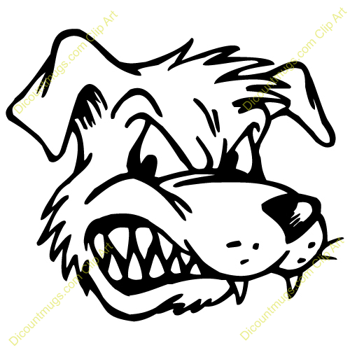 Angry dog clipart » Clipart Portal.