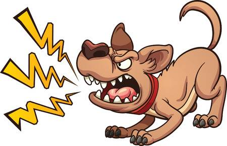 Angry dog clipart » Clipart Station.