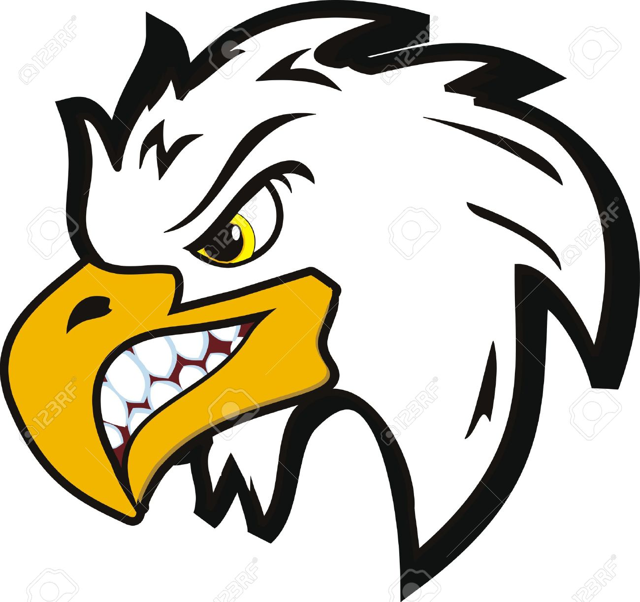 Angry Eagle Clipart.