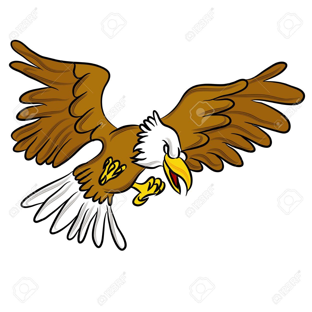 An image of a angry eagle cartoon..