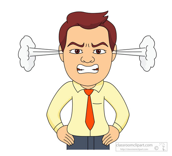 Angry Expression Clipart.