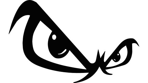 Angry eyes clipart 1 » Clipart Station.