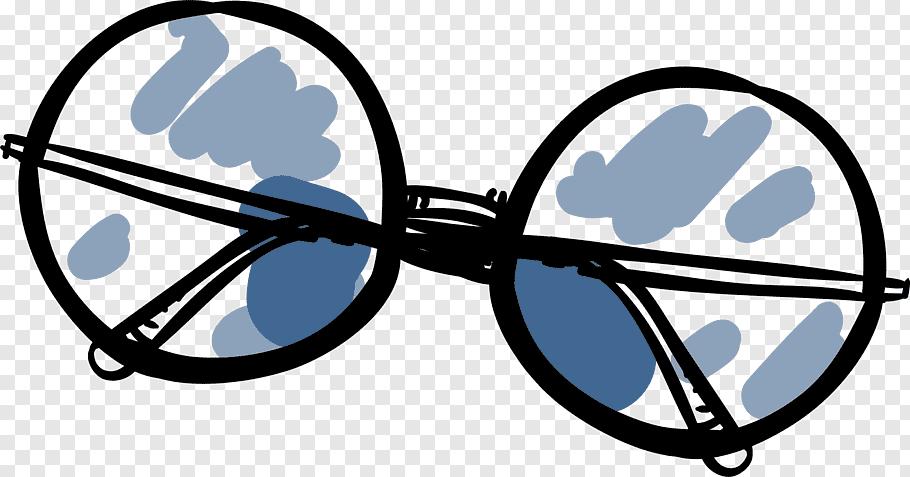 Eye Symbol, Glasses, Sunglasses, Cartoon, Circle, Comics.