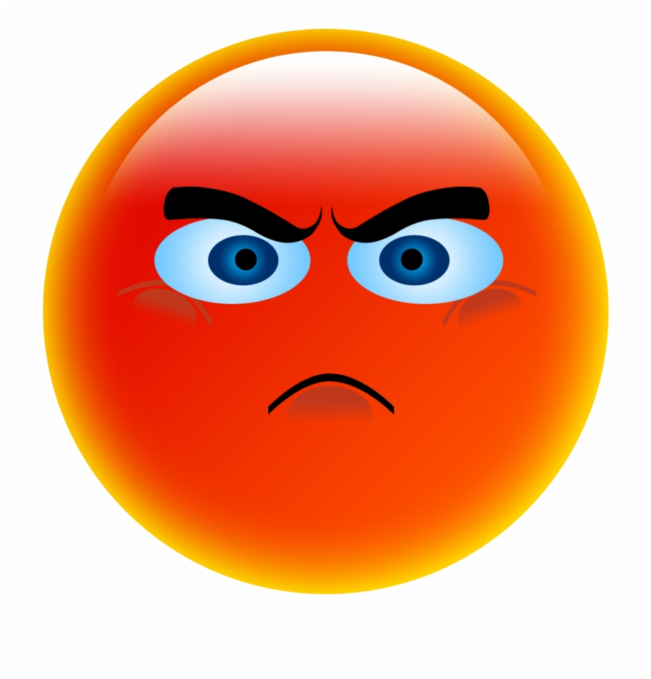 Clipart Transparent Stock Anger Smiley Emoticon Face.