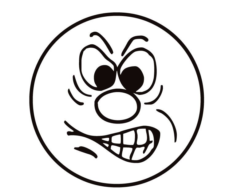 Angry Face Clipart Black And White.