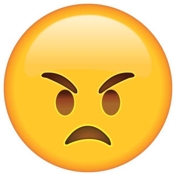 Mad Emoji Clipart.
