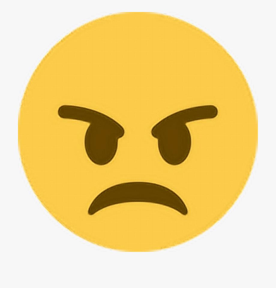 Angry Emoji Transparent Background.
