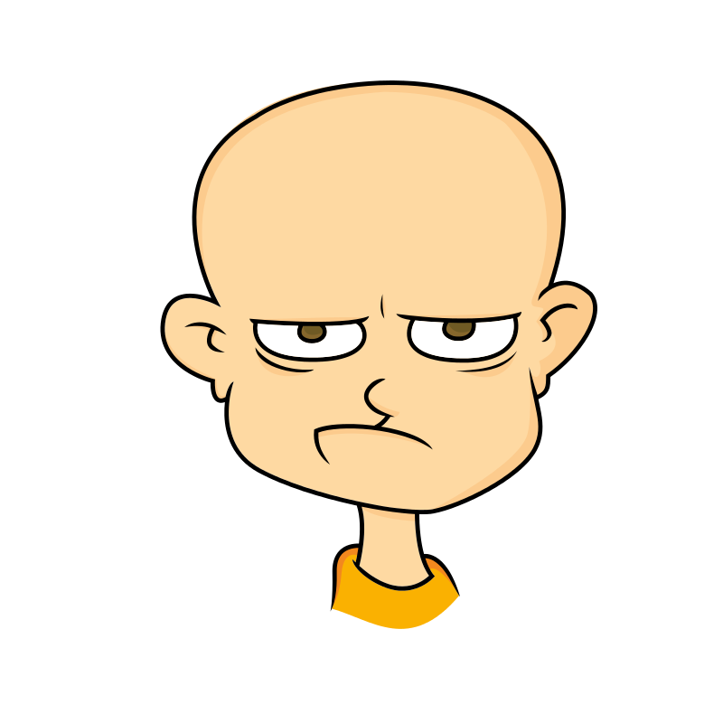 Free Clipart: Face of an angry man.