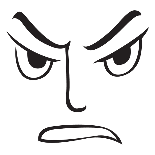 Angry face emoticon.