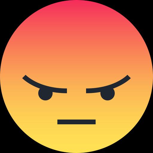 Angry, emoji, emoticon, reaction, sad icon.