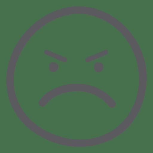 Angry face emoji.
