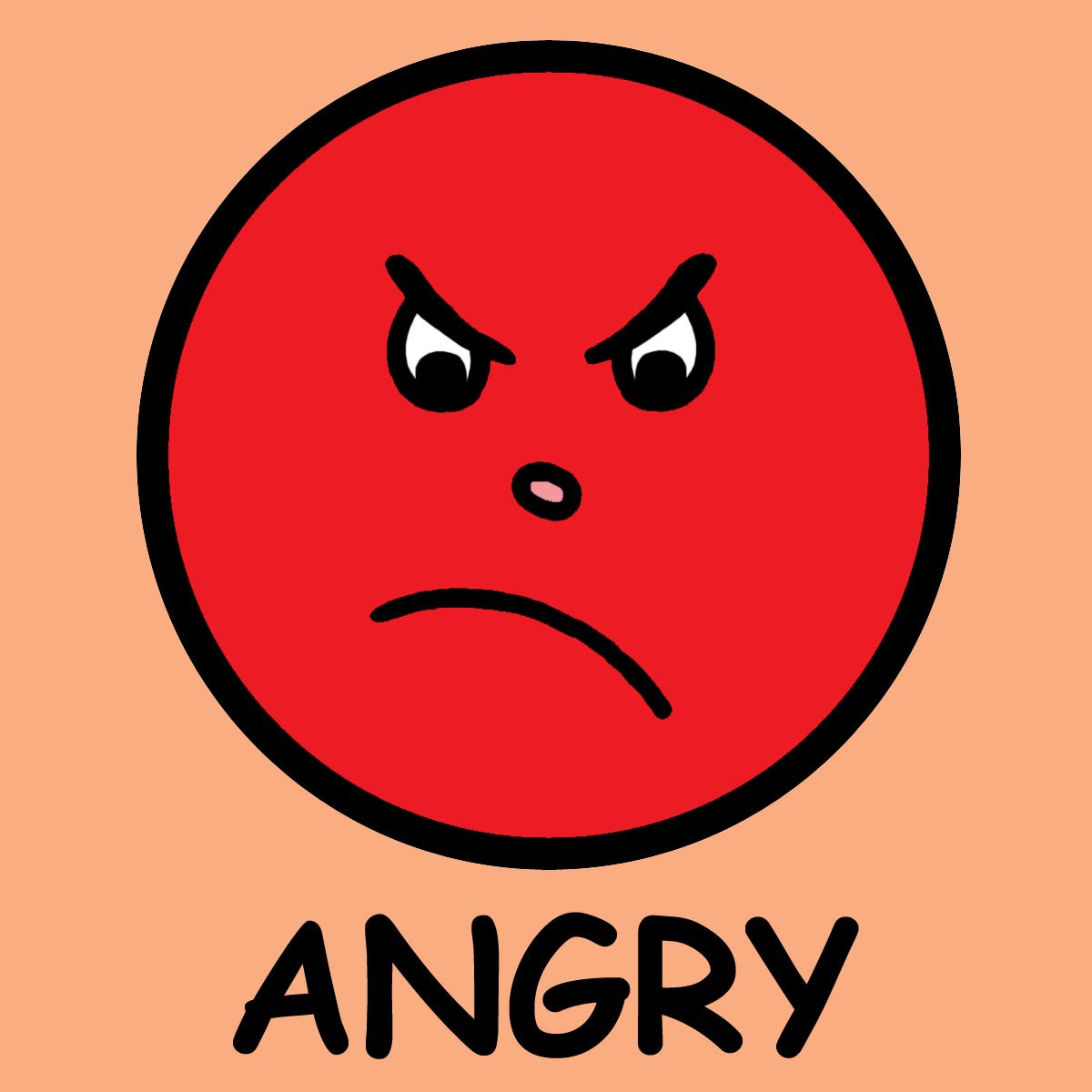 Angry Faces Emotions Clip Art N3 free image.