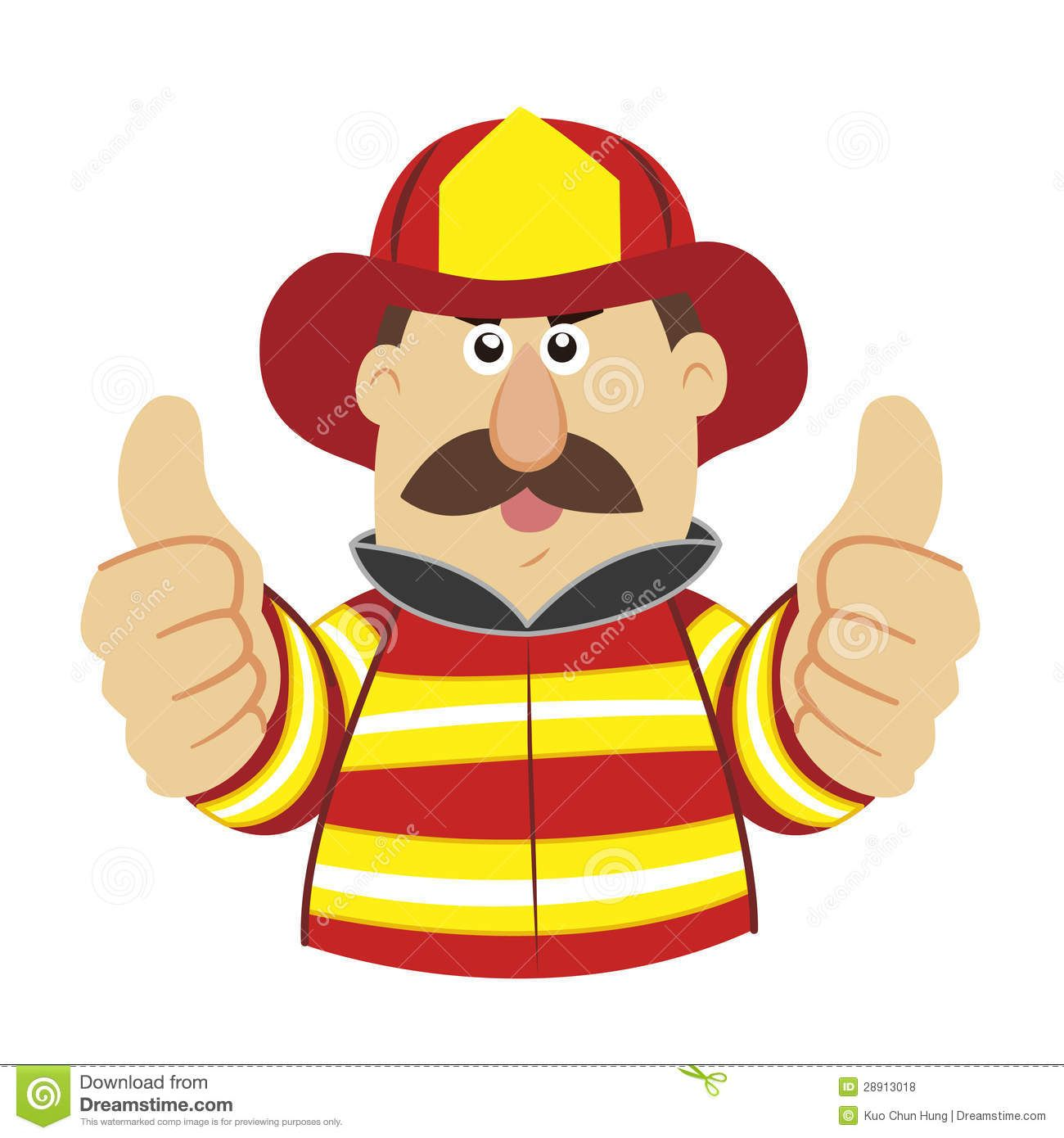 free cartoon picture of fireman.
