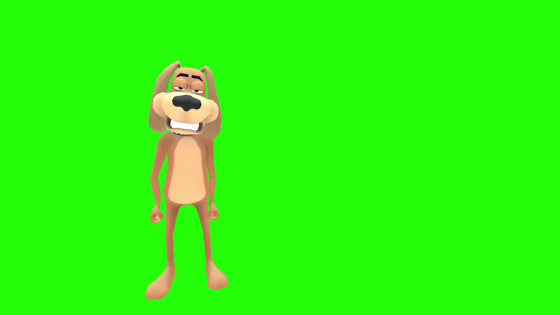 Animated angry dog character shake fist Motion Background.