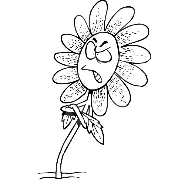 Cartoon Pictures Of Flowers To Color.