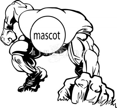Panther Football Player Clipart.