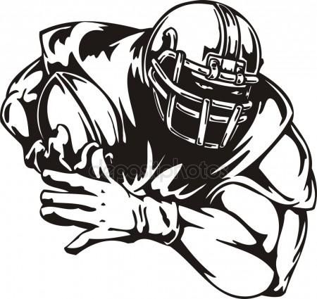 Football Player Silhouette Clip Art.