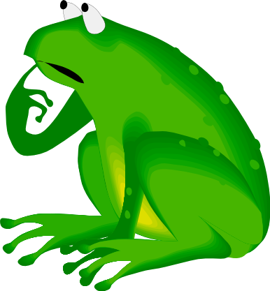Animated frog clipart.