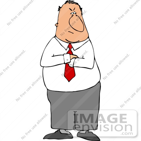 Arms Crossed Angry Clipart.
