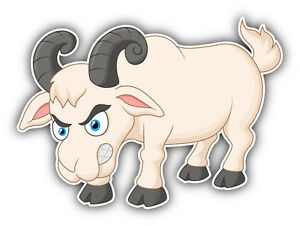 Details about Goat Cartoon Angry Car Bumper Sticker Decal 5\