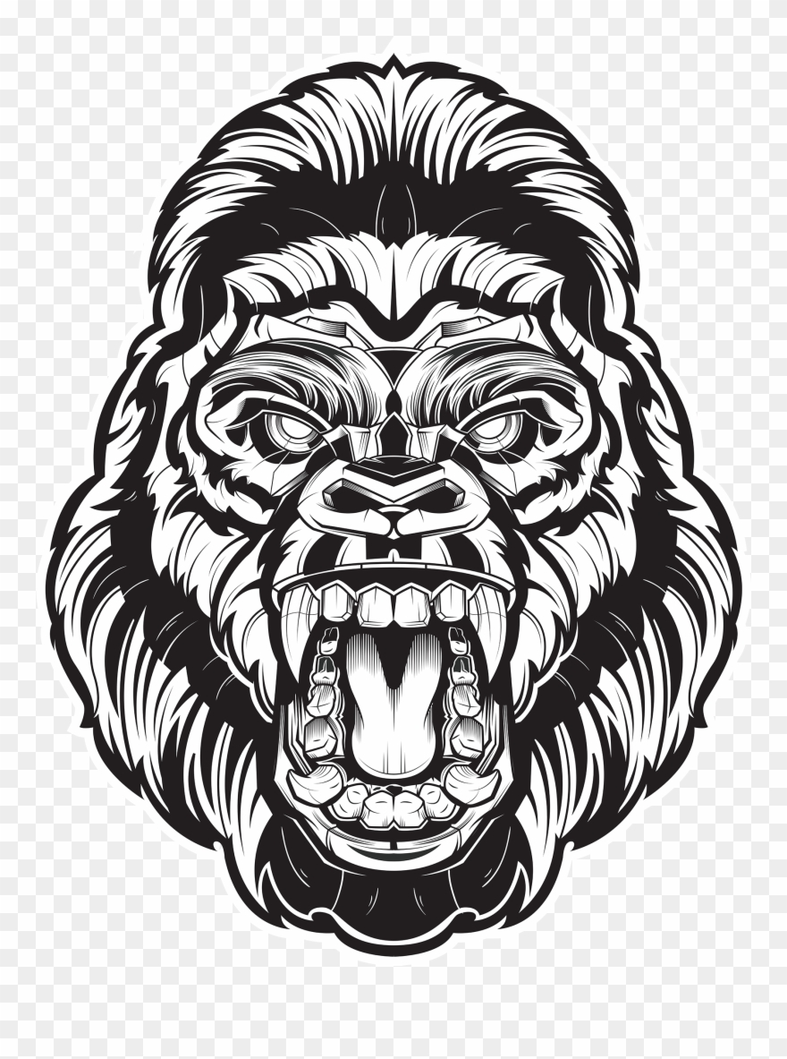 Angry Gorilla Face Png Clipart (#1831469).