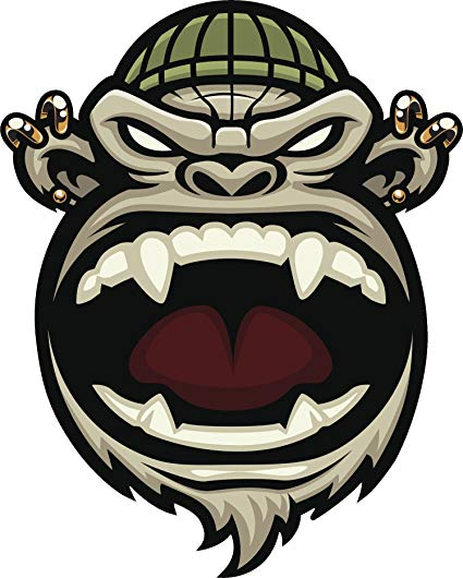 Amazon.com: Cool Angry Gorilla with Gold Piercings Cartoon.