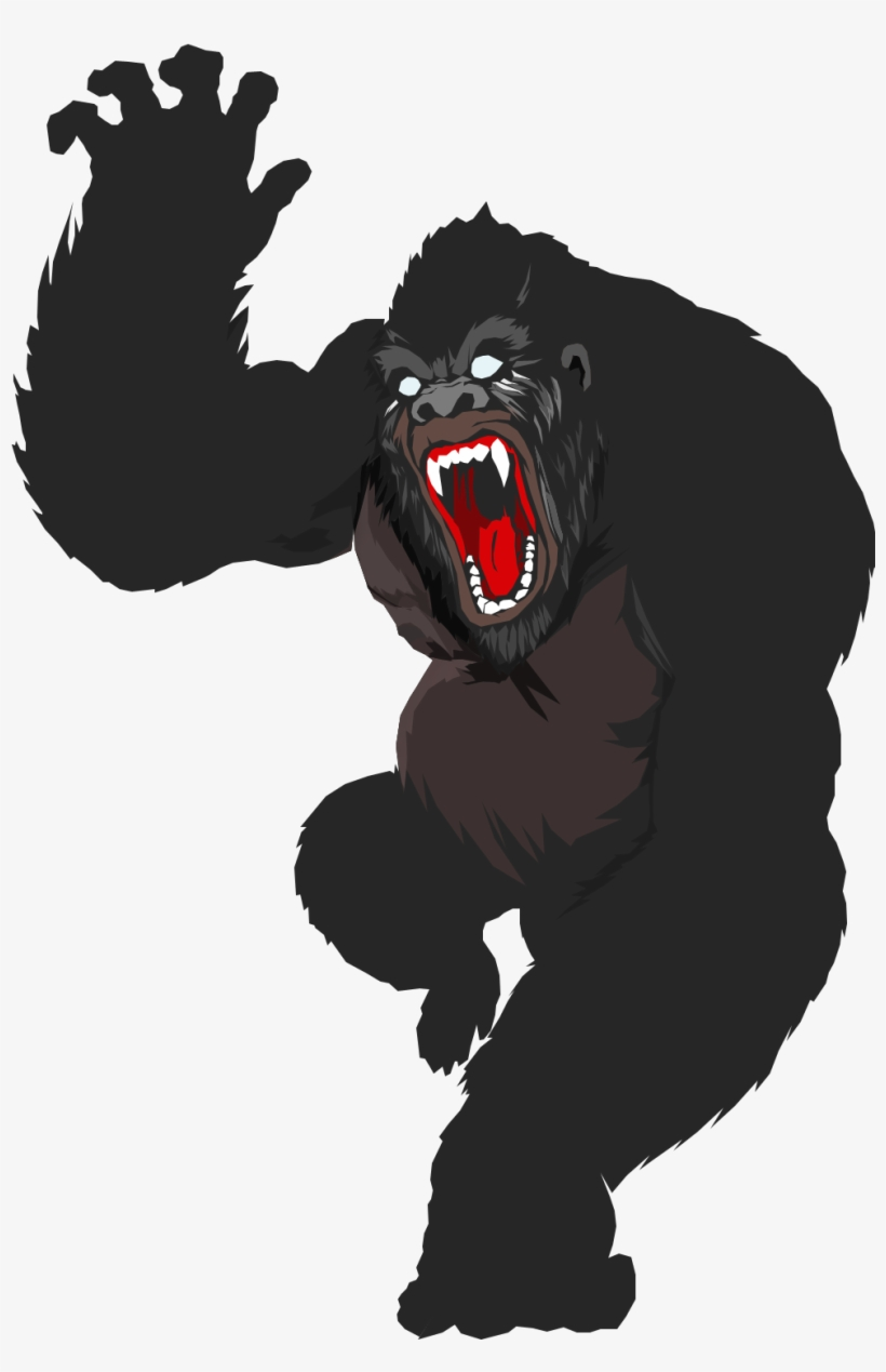 Vector Mouth Gorilla.