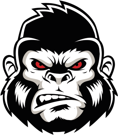 HD Gorilla Vector Smoking.