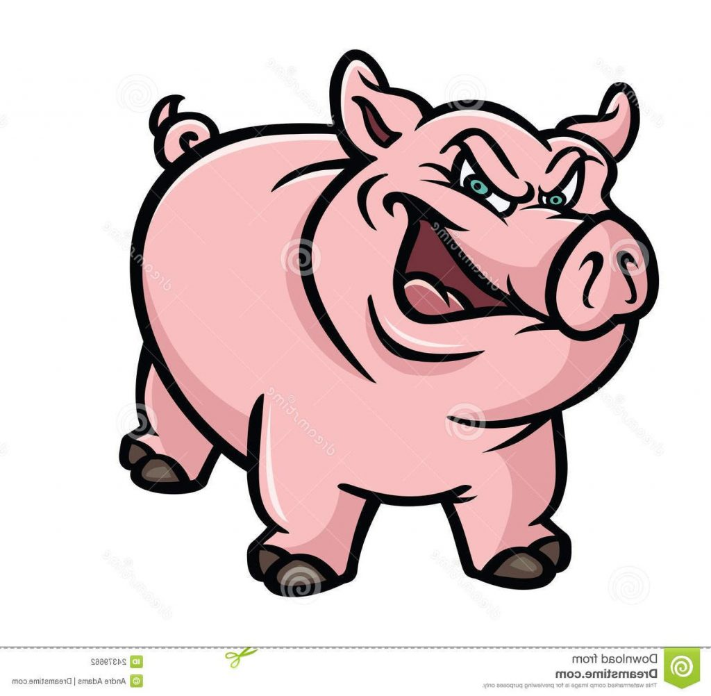 Angry Pig Clipart.
