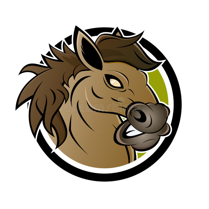 Angry Horse Stock Illustrations.