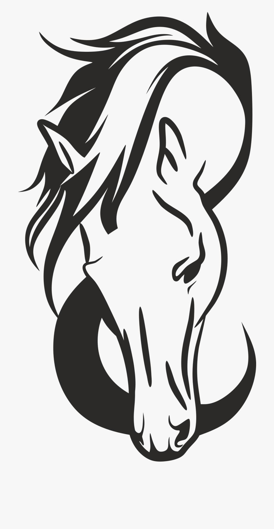 Clipart Horse Head Silhouette.