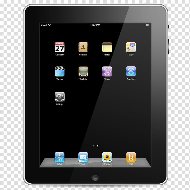 IPad, black iPad transparent background PNG clipart.