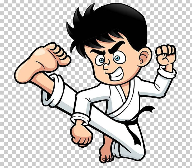 Kick Cartoon Karate PNG, Clipart, Angry Man, Arm, Boy.