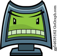 Angry Computer Clip Art.