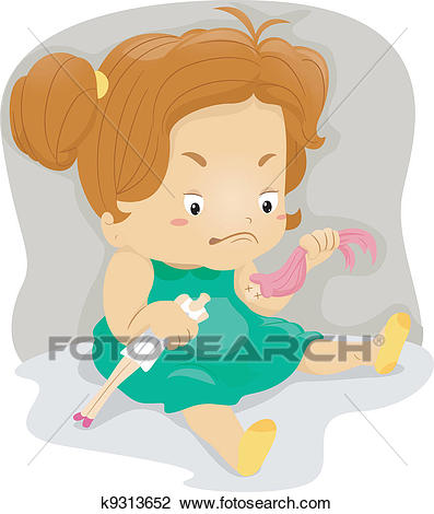 Angry Kid Clipart.