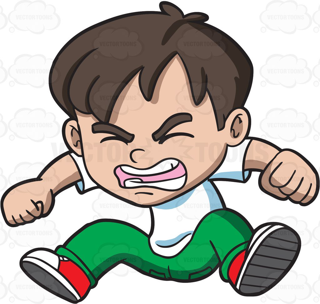Angry kid clipart 5 » Clipart Station.