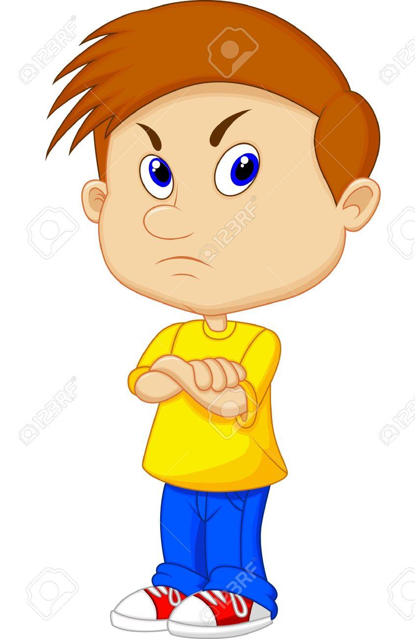 Angry boy cartoon.