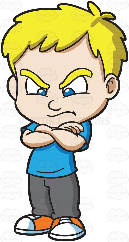 Angry kid clipart 1 » Clipart Station.