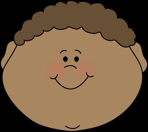 Little Boy Happy Face Clip Art.