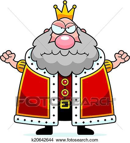 Cartoon King Angry Clipart.