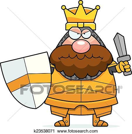 Angry Cartoon King Clipart.