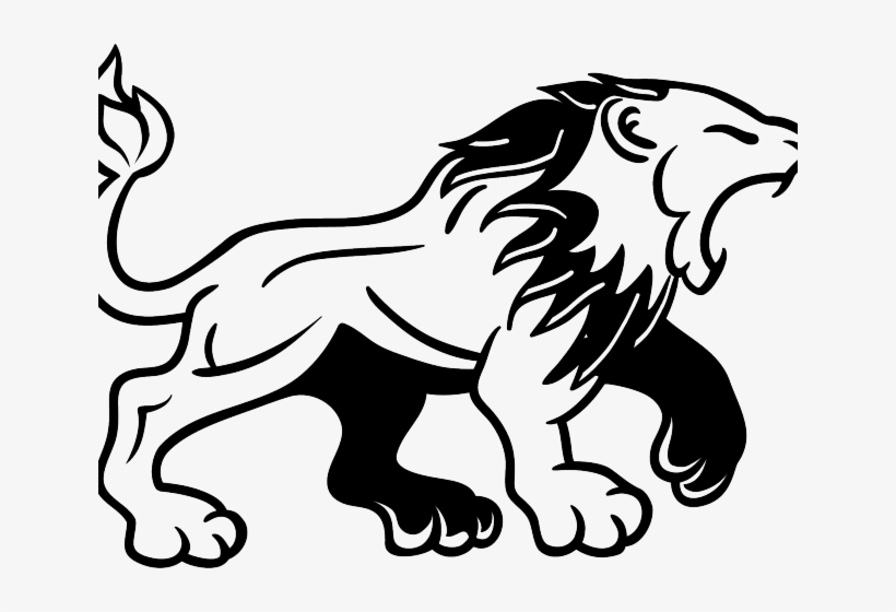White Lion Clipart Angry Lion.