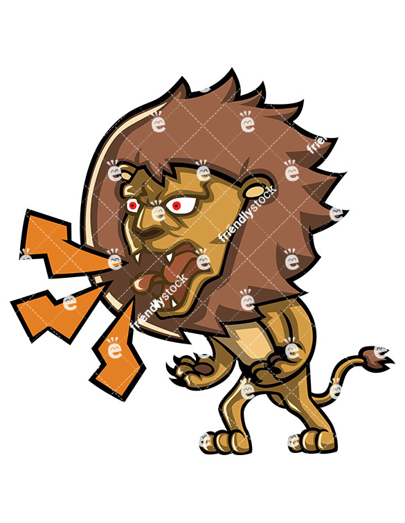 An Angry Lion Yelling At Someone.