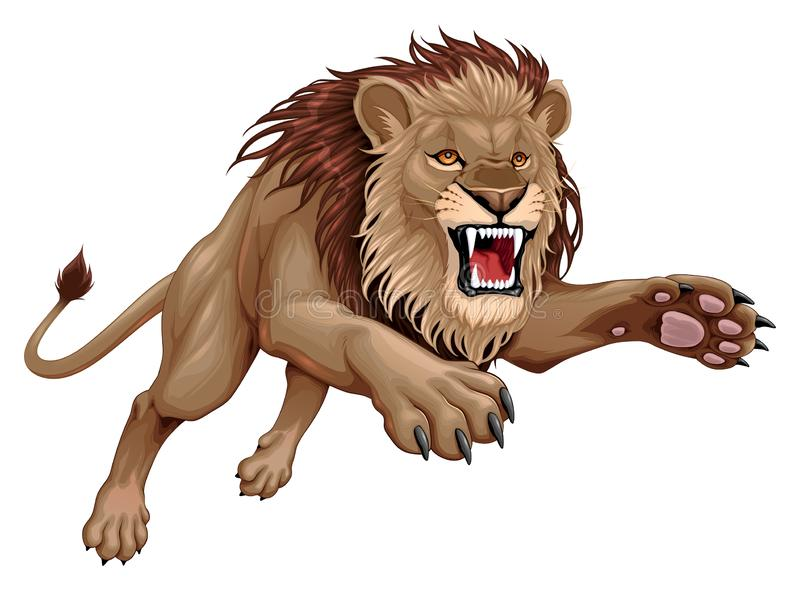 Angry Lion Stock Illustrations.