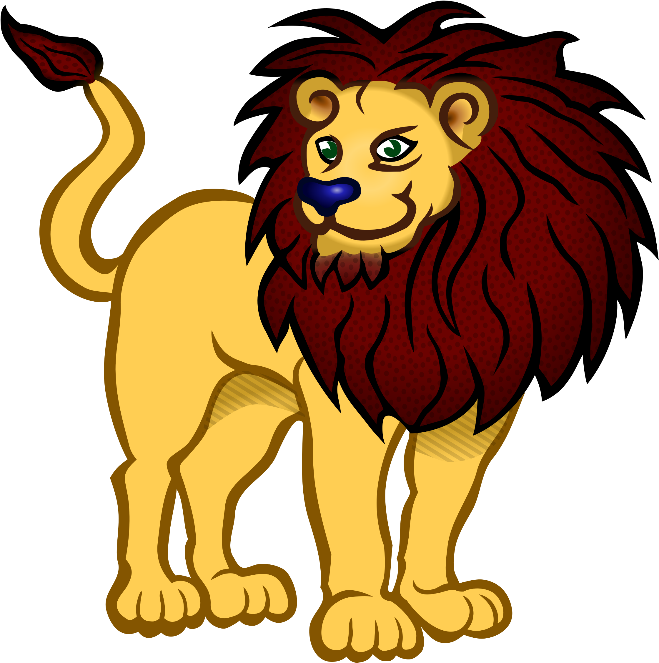 Clipart Of Lion, Tier And Lion Of.
