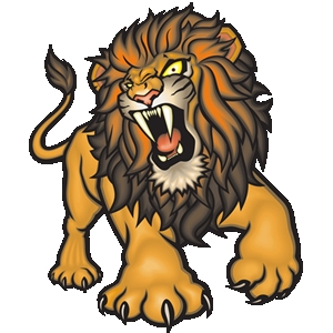 Angry lion clipart.