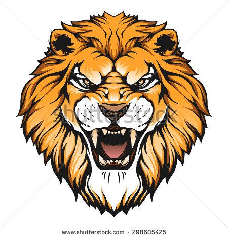 Lion Face Roar Clipart.