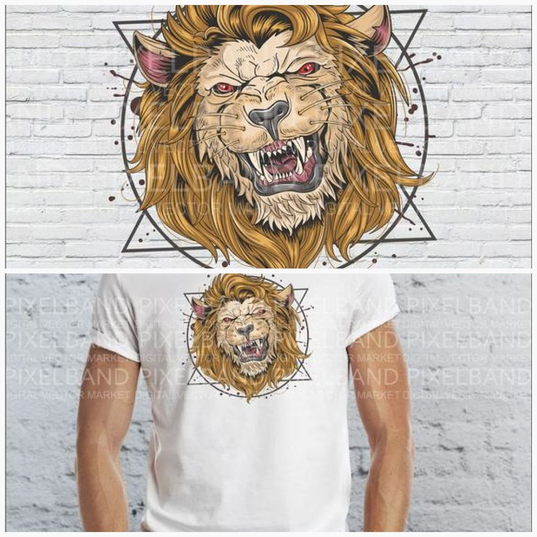 Angry lion svg.Angry lion head vector, digital print,t.